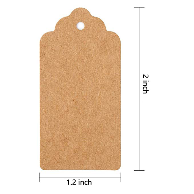 300pcs brown Kraft paper tags for wedding or party decoration gift tags and Packaging Hang Tags is customized DIY labels