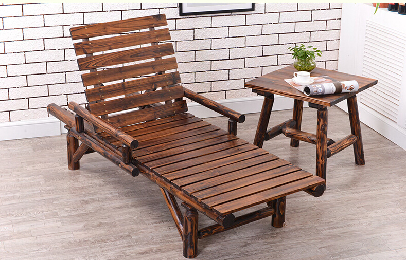 Wood Sun Lounger with Double Arm Adjustable Back and Side Tray Outdoor  Furniture Garden Patio BeachCompare Prices on Double Chaise  Online Shopping Buy Low Price  . Double Chaise Chair. Home Design Ideas