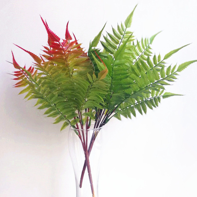 5p phoenix tail fern leaf bunch artificial real touch feeling ferns