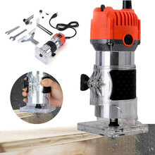 600W 30000RPM Woodworking Wood Electric Trimmer Milling Engraving Slotting Trimming Machine Hand Carving Machine Wood Router teeth grinding machine 204 102l jewelry tools milling wood jade carving machine jewelry polishing engraving