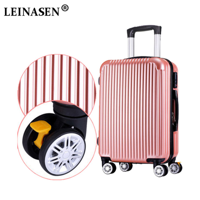 """Trolley Case ABS + PC20 """"24""""Wheel Luggage Suitcase Lady Men's Travel Suitcase Student Adult Portable Suitcase Password Suitcase"""