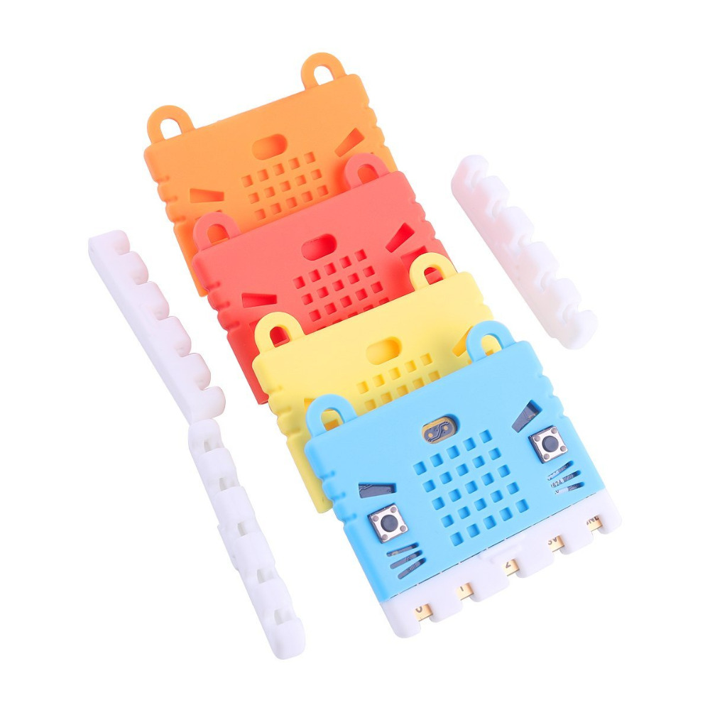 Micro:bit Protective Case Non-acrylic Silicone Case Cute Pattern, Soft Microfiber And Easy To Storage For BBC Micro:bit Board