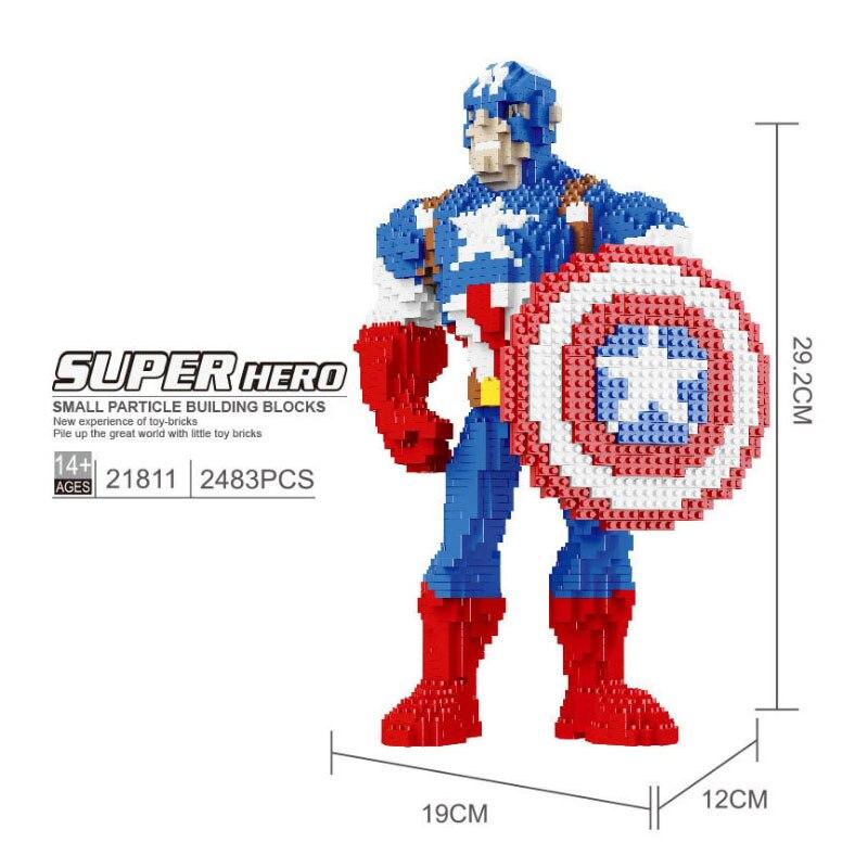 Baukästen Figur DIY Super Hero Held Iron Man Soldat Kinder Spielzeug Mini Modell