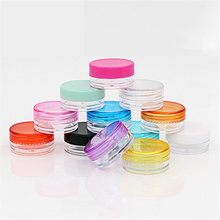 cosmetic sifter jars Pot Box Nail Art Cosmetic Bead Storage Makeup Cream Box Plastic Container Round Bottle 3*3*1.5cm wxs 10pcs plastic cosmetic empty jar pot box makeup nail art cosmetic loose bead storage container round bottle transparent h004