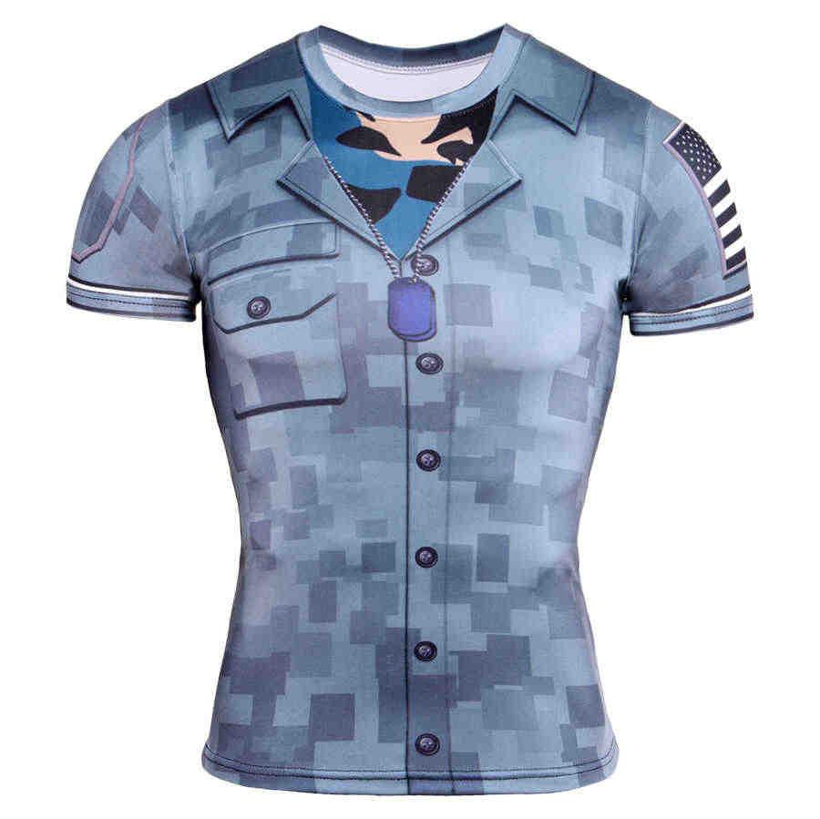 Новинка 2017 года Лидер продаж мужская 3D футболка поддельный комплект одежды из 2 предметов с принтом с коротким рукавом обтягивающая рубашка обтягивающие Повседневное Забавные футболки, топы