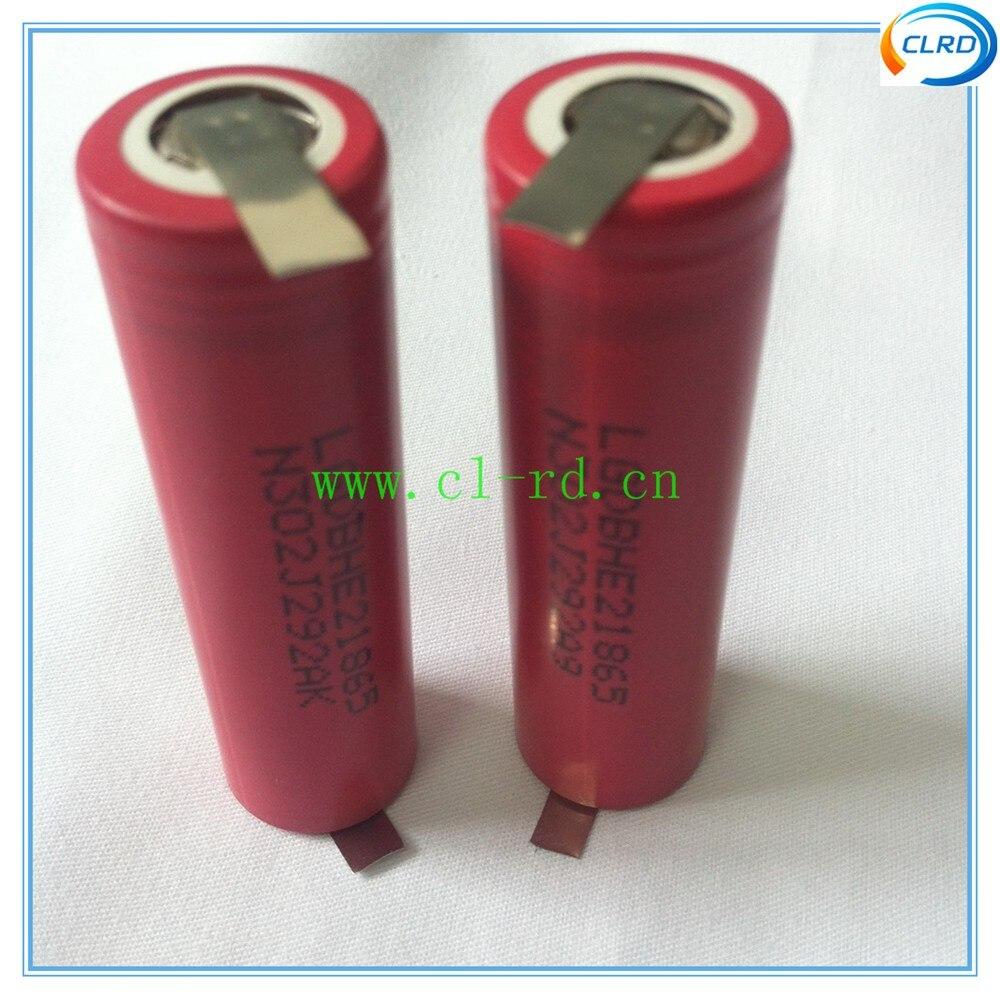 Baterias Recarregáveis 5 pçs/lote lghe2 2500 mah Tipo : Li-ion
