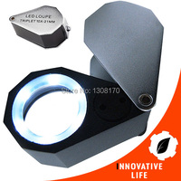 6 LED Light 21mm Lens Foldable 10x Magnification Triplet Optic Lens Jeweler Loupe Magnifier Jewelry Tools