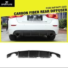 Q50 Автомобиля Стиль Углеродного Волокна Гонки Задний Диффузор для Губ для Infiniti Q50 2014UP