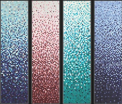 Customized Gradient glass mosaic tile swimming pool wall
