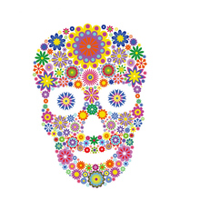 Flower Skull Patches Easy Print By Household Irons T-Shirt Diy Decoration 2018 New Parches Ropa Iron For Clothing