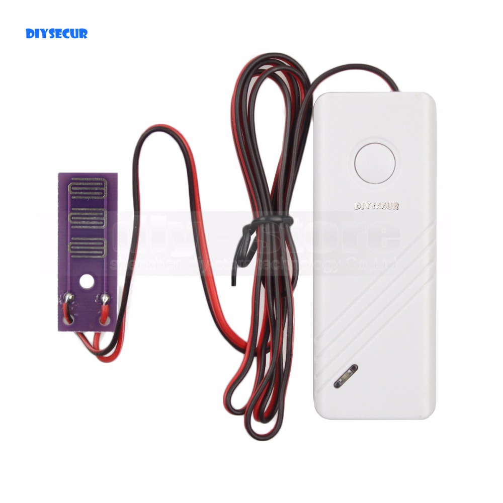 DIYSECUR SR-01 Wireless Water Intrusion Detector For Our Related Home Alarm Home Security System 433Mhz Water Sensor