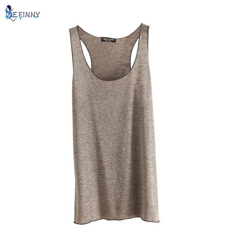 EFINNY Women Fitness Tank Top T Shirt Vest Loose Model Women T-shirt Cotton O-neck Slim Tops Clothes