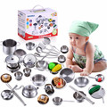 Kids Pretend Play Kitchen Toys 18pcs/set Kitchenware Miniature Cooking Set Toys For Children Kitchen Accessories Set Brinquedo
