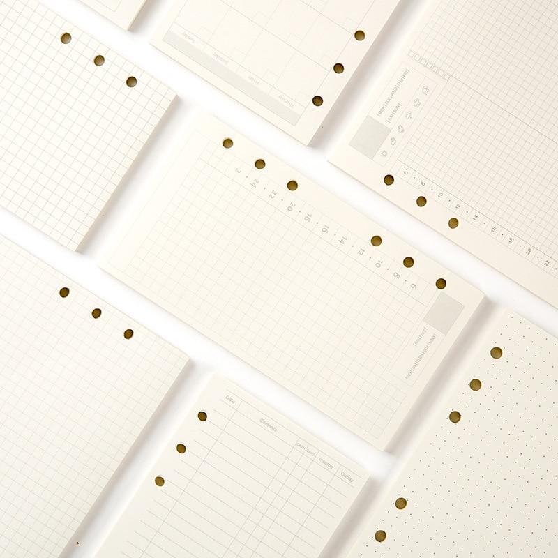 Сменный блок для блокнота А5/А6/А7, спиральный Ежедневник для переплета, внутренняя страница, для бумаги, для молочных продуктов, еженедельны...