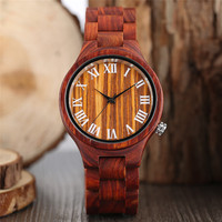 High Quality Women Fashion 2017 Hot Wooden Quartz Watch Adjustable Nature Bamboo Band Simple Handmade Modern