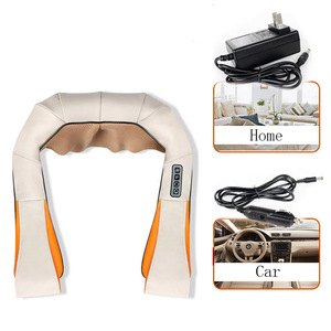 Image 3 - U Shape Electrical Shiatsu Back Neck Shoulder Body Massager Car&Home Use Infrared Stress Relieve Massage Belt Massage Tool