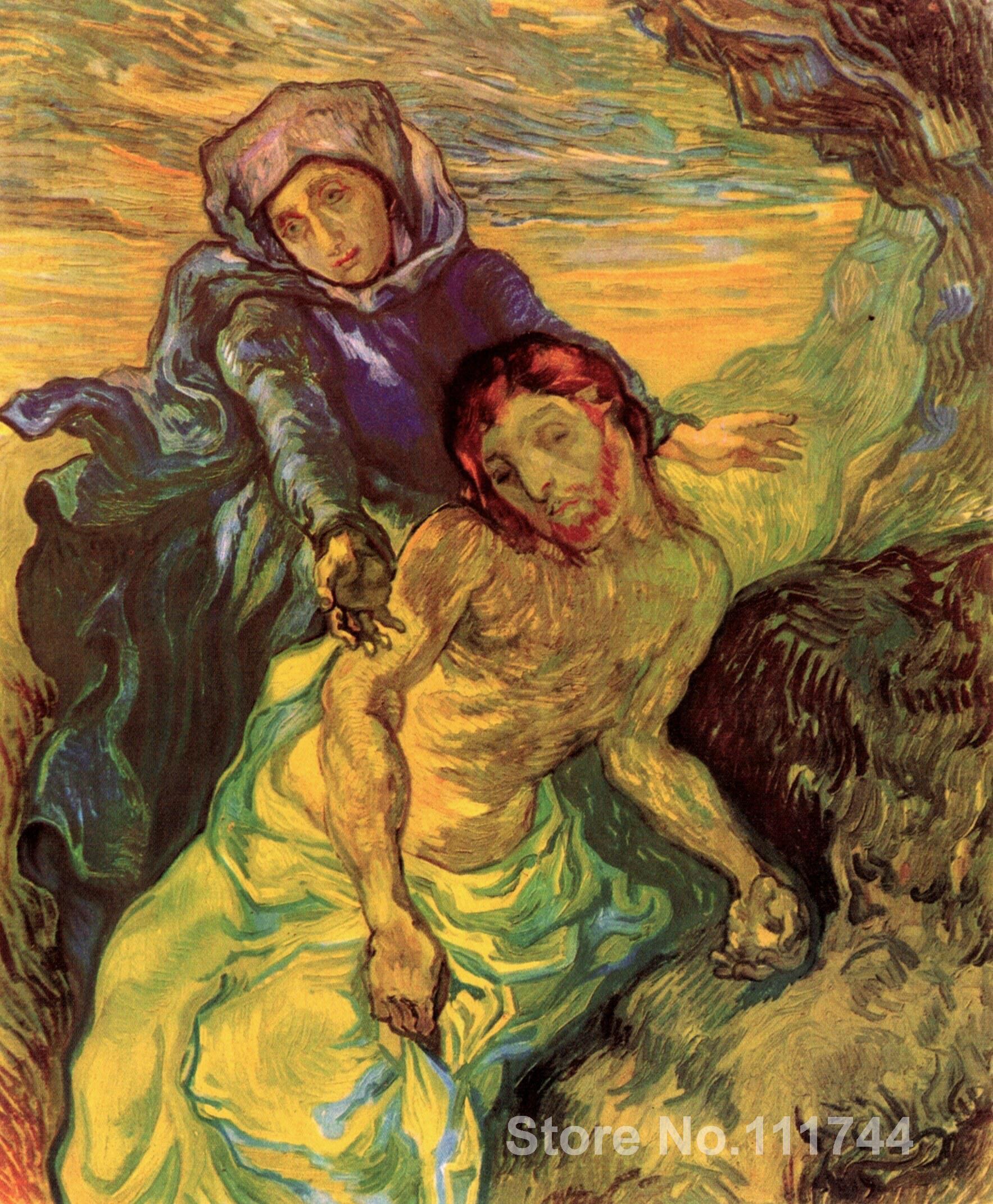 US $83.46 22% di SCONTO|Famoso Vincent Van Gogh dipinti di arte per la  camera da letto PIETÀ dipinto A Mano di Alta qualità-in Pittura e  calligrafia ...
