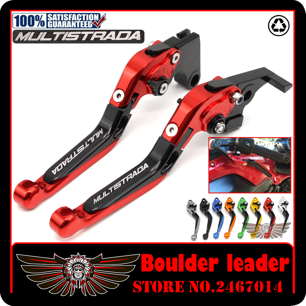 For DUCATI MULTISTRADA 1200 S GT 2010 2016 Motorcycle Accessories CNC Aluminum Folding Extendable Brake Clutch
