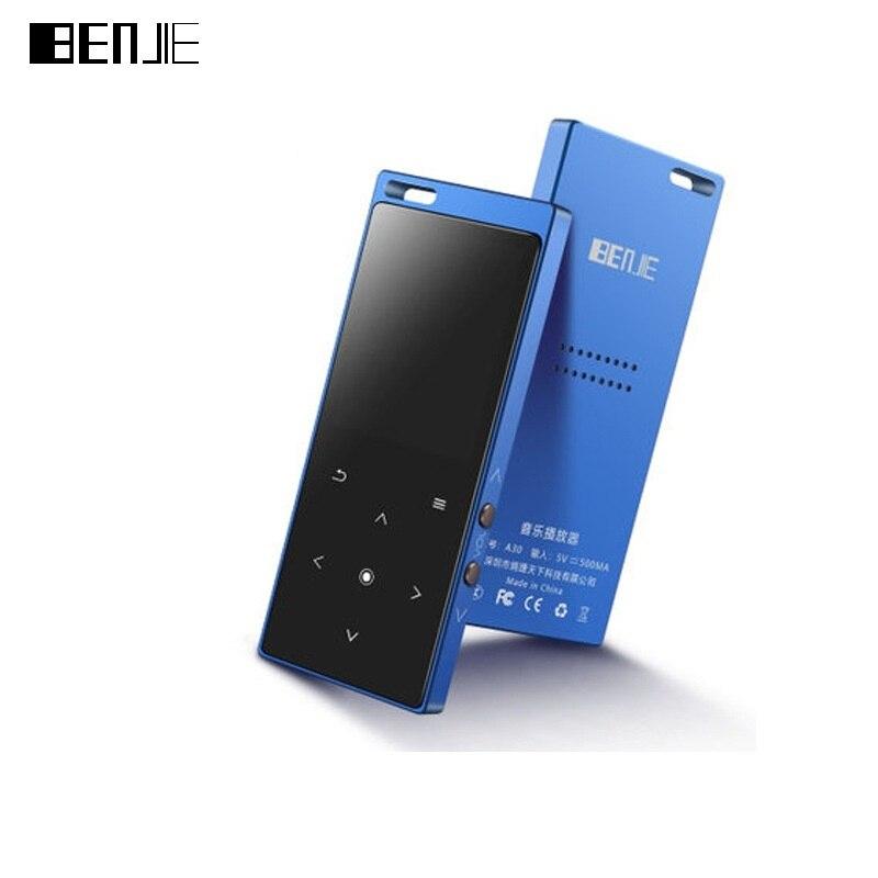 Lecteur MP3 Bluetooth BENJIE M3 lecteur de musique enregistrement FM TF intégré haut-parleur lanière trou Sport brassard étanche poche 2018