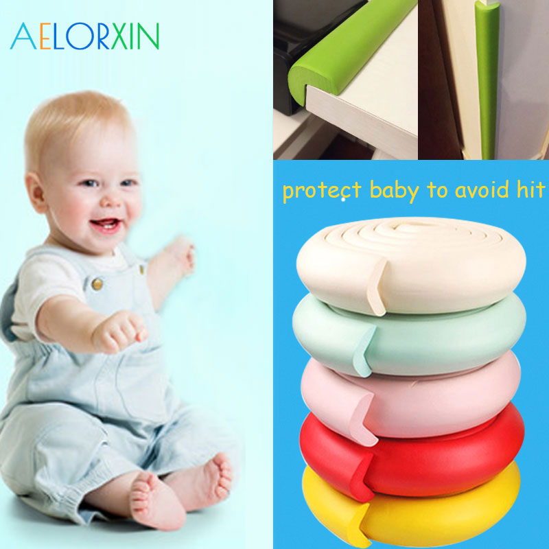 2M Children Protection Child Protection Corner Protector Baby Safety Guards Edge & Corner Guards Solid Angle Form Single Loaded ...