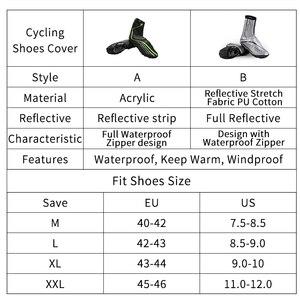 Image 3 - WEST vélo chaussures de cyclisme couverture pleine fermeture éclair imperméable à leau hiver thermique vélo couvre chaussures vtt vélo couverture Copriscarpe Ciclismo