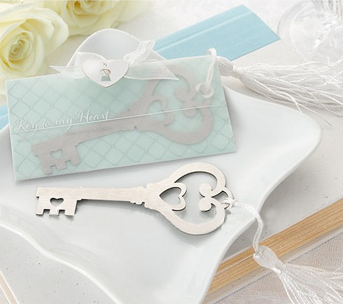 2019 Direct Selling Hot Sale Marcapaginas Key Bookmarks With Tassel 1pcs Silver Metal Bookmarker Wedding Favors Gifts K6894