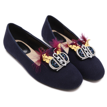 Women Casual Shoes 2017 Spring Ladies Flats Fashion Black Round Toe Flat Shoes  New Designer Style Shoes Womens Blue Shoes
