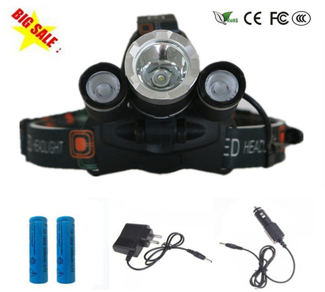 3 Led Headlight 7000 Lumens Cree Xm L T6 Head Lamp High Power Led