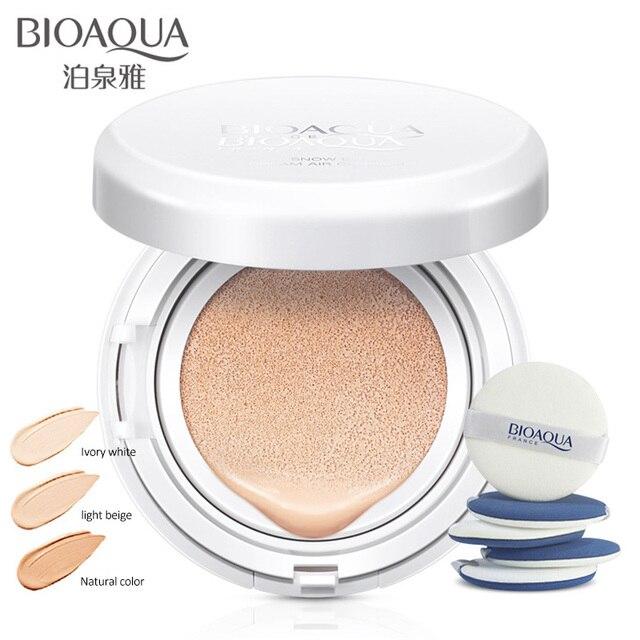 En venta BIOAOUA protector solar cojín de aire BB CC crema corrector hidratante base blanqueadora maquillaje desnudo para maquillaje facial belleza