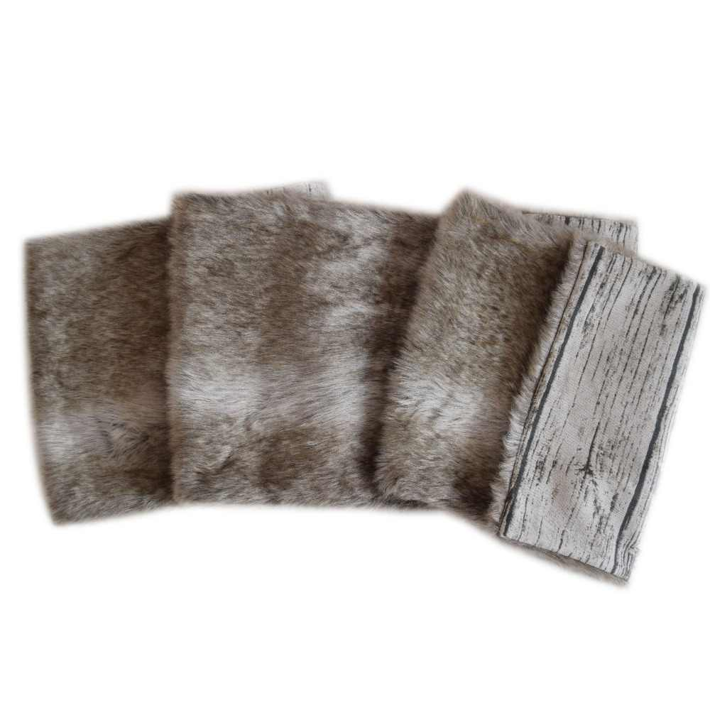 14cd596698f5 Free Shipping Christmas Table Runner Xmas Table Decoration Faux Fur Table  Cloth For Party Home Man