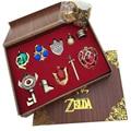 The Legend of Zelda Sword Logo keychain Pendant 10pcs Set Collection Gift Box