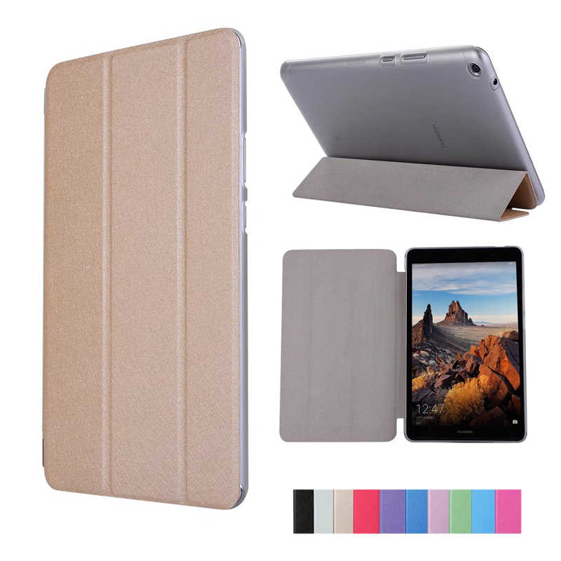 "Slim PU Case For Huawei MediaPad T3 8.0"" KOB-L09 KOB-W09 Stand Flip Cover Funda For Honor Play Pad 2 8.0 Cover Skin"