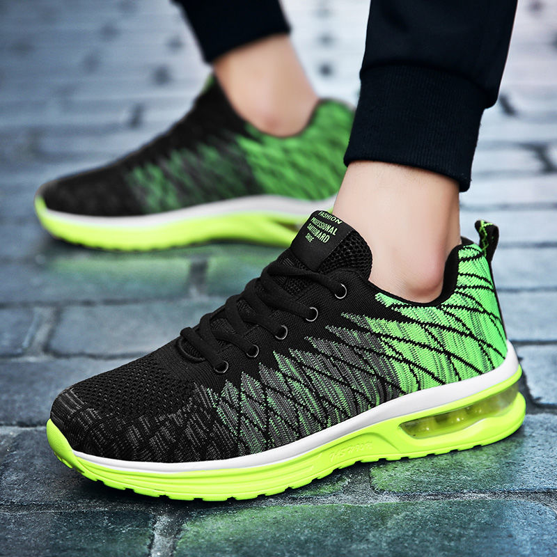 Gray Plates Chaussures Sport Mocassins Jogging Hommes Coussin De Automne red Casual Mode green Air Sneakers Sycatree Printemps Respirant ZRAwqwFx