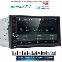 Qcta 8 Core 7 2 Din Android 7 1 Car NO DVD Gps Radio Multimedia Player