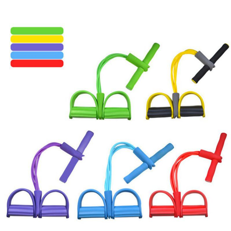 5 Colors Latex Tube Pull Rope Yoga Pilates Workout Resistance Bands Tension Fitness Equipment Muscles Strength Training Belt