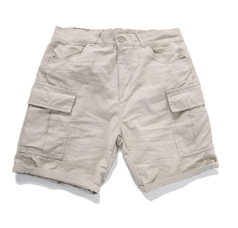 Summer Solid Men Casual Fashion Cotton Shorts Black Khaki Solid Shorts Slim Men Cargo Pantalon Short Red Japanese Shorts S6T36