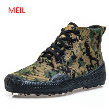 2018 Brand Men Canvas Army Bot Camouflage Boots Tactical Boots Combat High Marine Anti-skid Breathable Rubber Bots Jungle Boots купить недорого в Москве