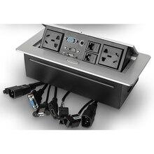 AU standard/universale di alimentazione/presa Da Tavolo/nascosta/HDMI high definition multimedia presa sul desktop pop  up presa del desktop B15