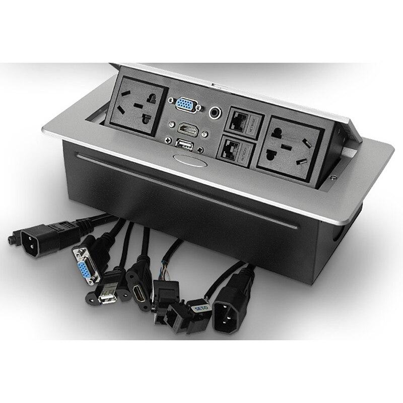 AU standard/universel puissance/prise De Table/caché/HDMI haute-définition multimédia prise de bureau pop-up bureau douille B15