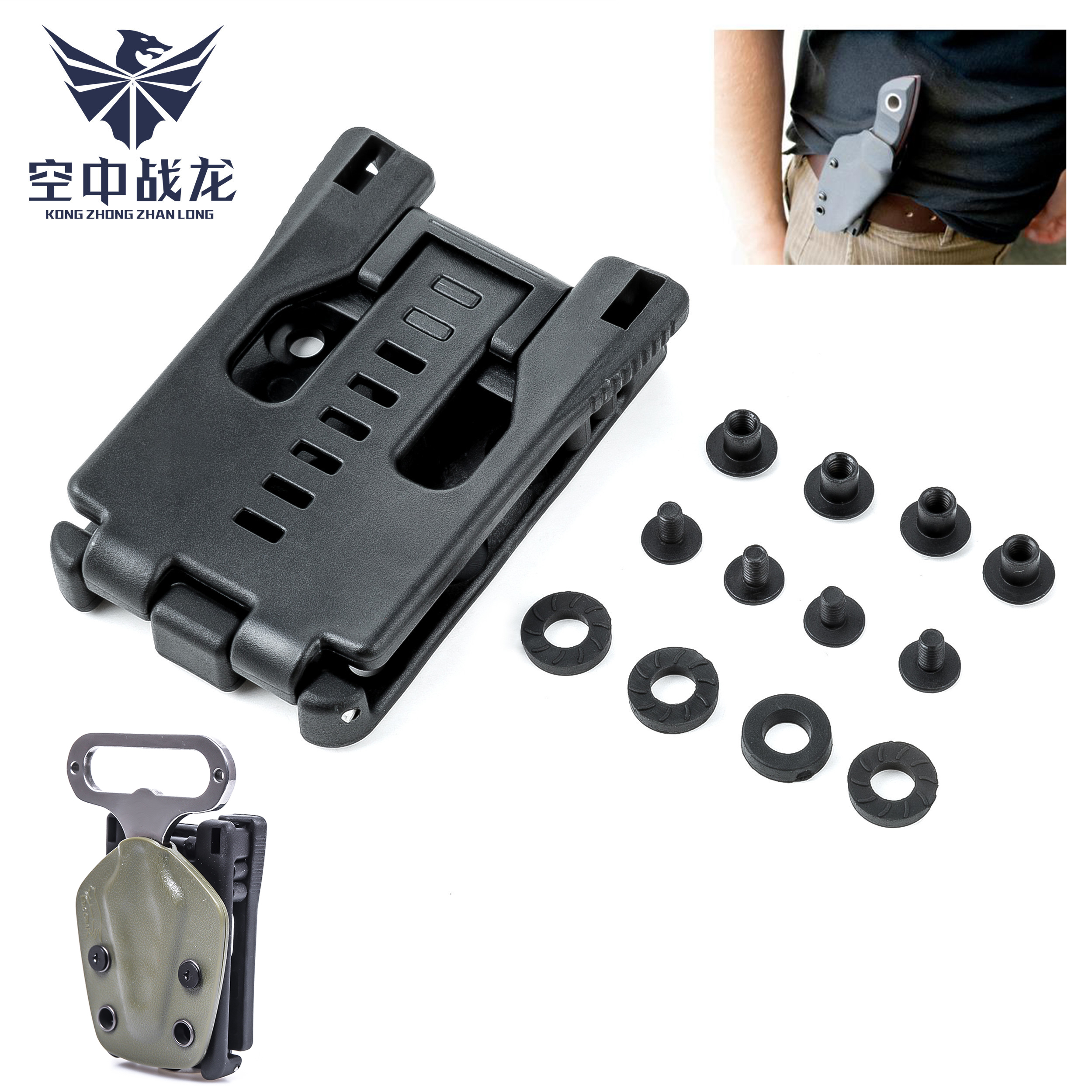 EDC Tek Lok Sheath Scabbard Belt Clip Waist Clamp Outdoor Camp Portable Tool Fixed Kit