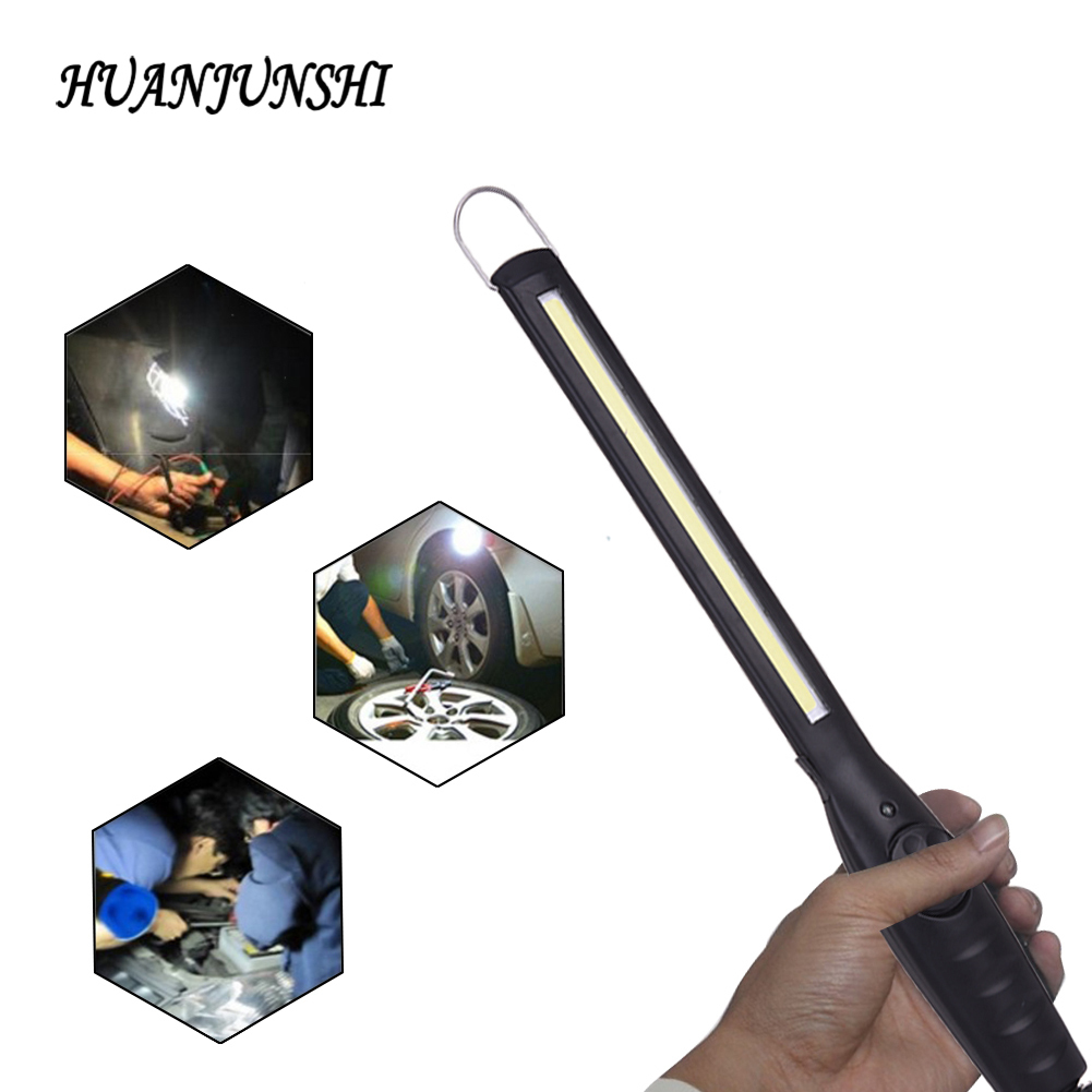 1PC Portable COB Flashlight Torch USB Rechargeable LED Work Light Magnetic COB Lanterna Hook Hanging Lamp For Car Repair Camping