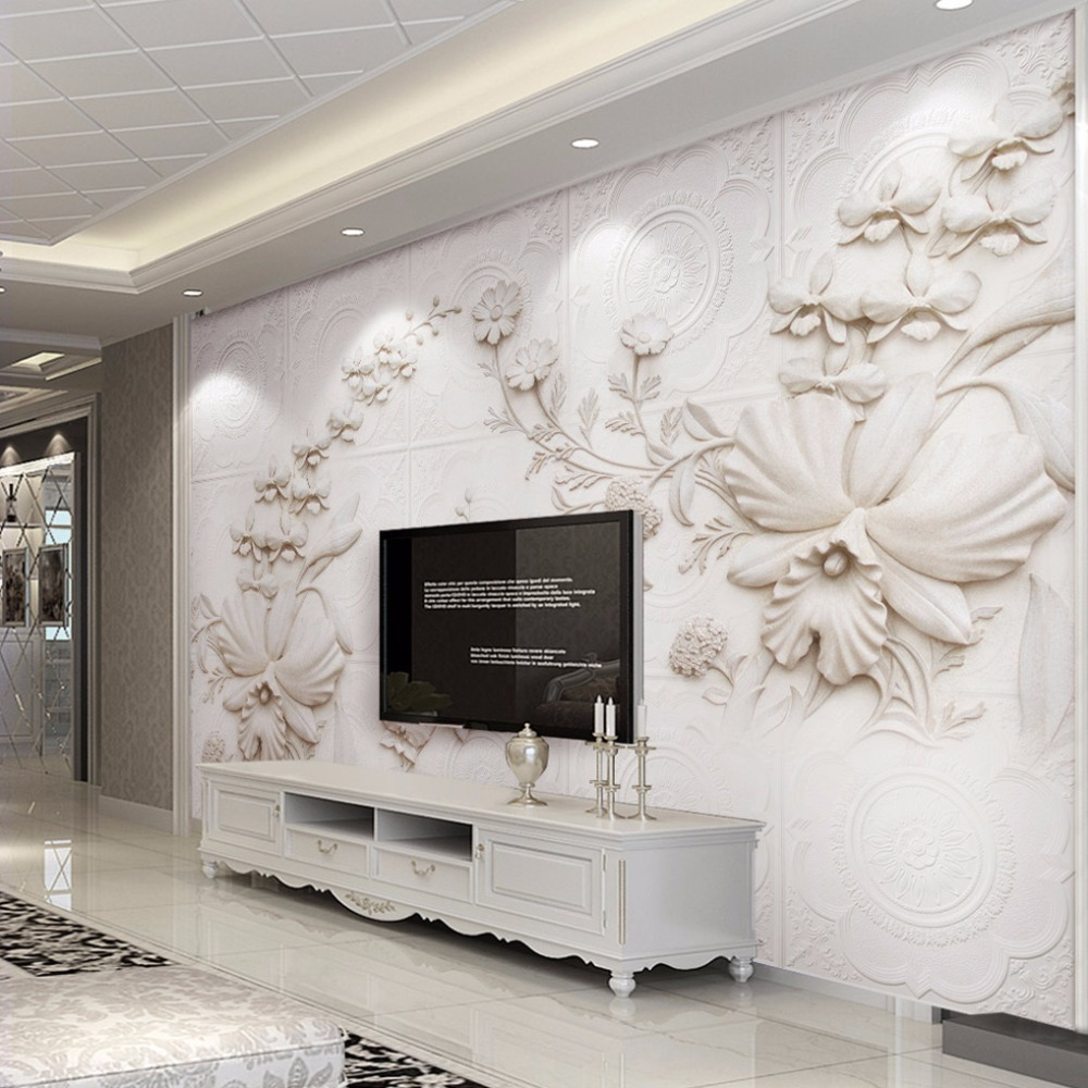 Wall mural custom wallpaper for walls 3 d european style for Custom mural wallpaper