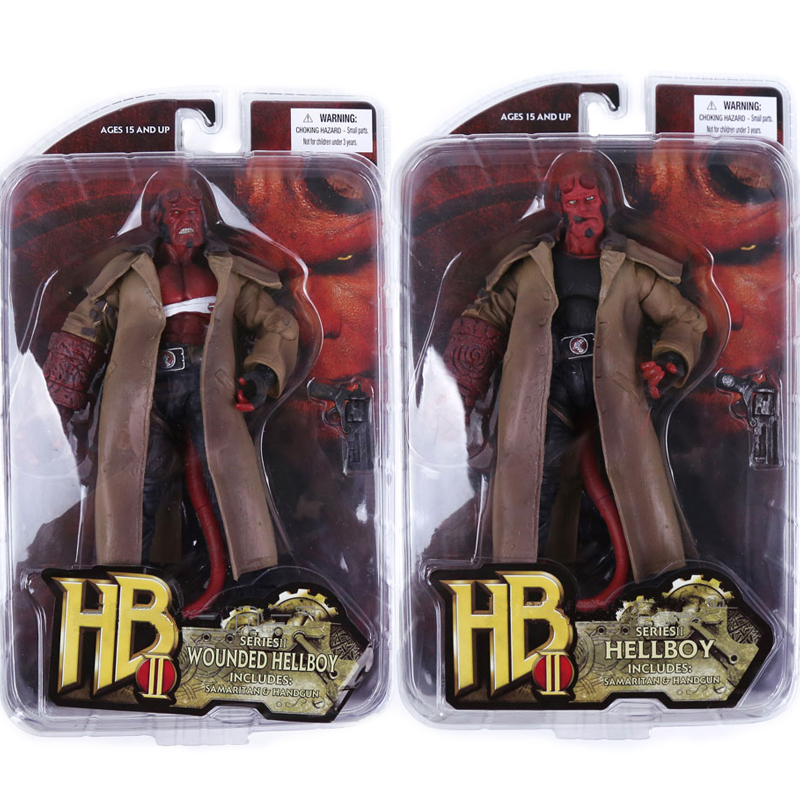 7inch 2 Type Movie HB Hellboy Series Includes Cigar Samaritan Handgun Action Figure Collectible Model Toy image