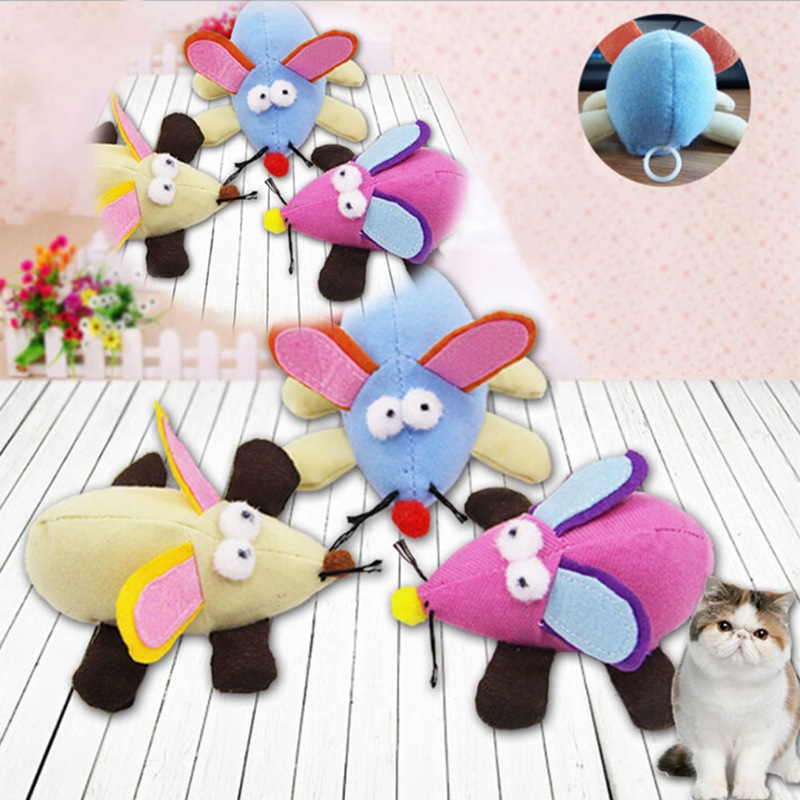 1Pcs Pet Cat Toy Mouse Pulling Chain Shock Shake Interactive Toy for Cats Pets Cat Animal Toys Cat Products Color Random