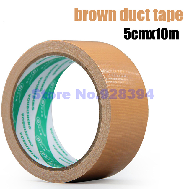 Aliexpress buy 5cmx10m single sided light brown carpet cloth 5cmx10m single sided light brown carpet cloth duct tape multi purpose durable waterproof mozeypictures Gallery