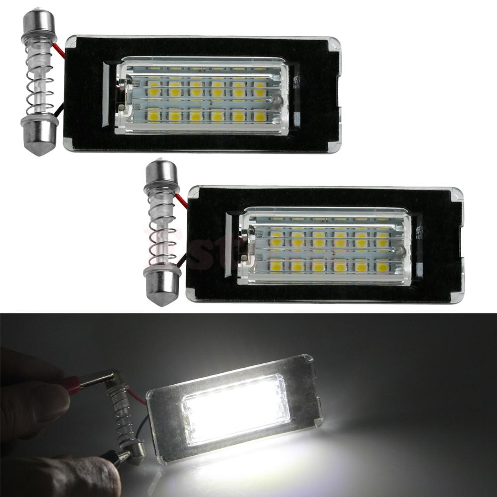 2X 18SMD License Plate Light LED Error Free Lamp For MINI Cooper R56 R57 R58 R59 Car Light Source direct fit for kia sportage 11 15 led number license plate light lamps 18 smd high quality canbus no error car lights lamp