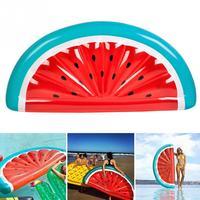 180CM Inflatable Watermelon Pool Float Mattress Sunbathe Beach Mat Air Swim Swimming Circle Beach Sea Party Toys For Adults