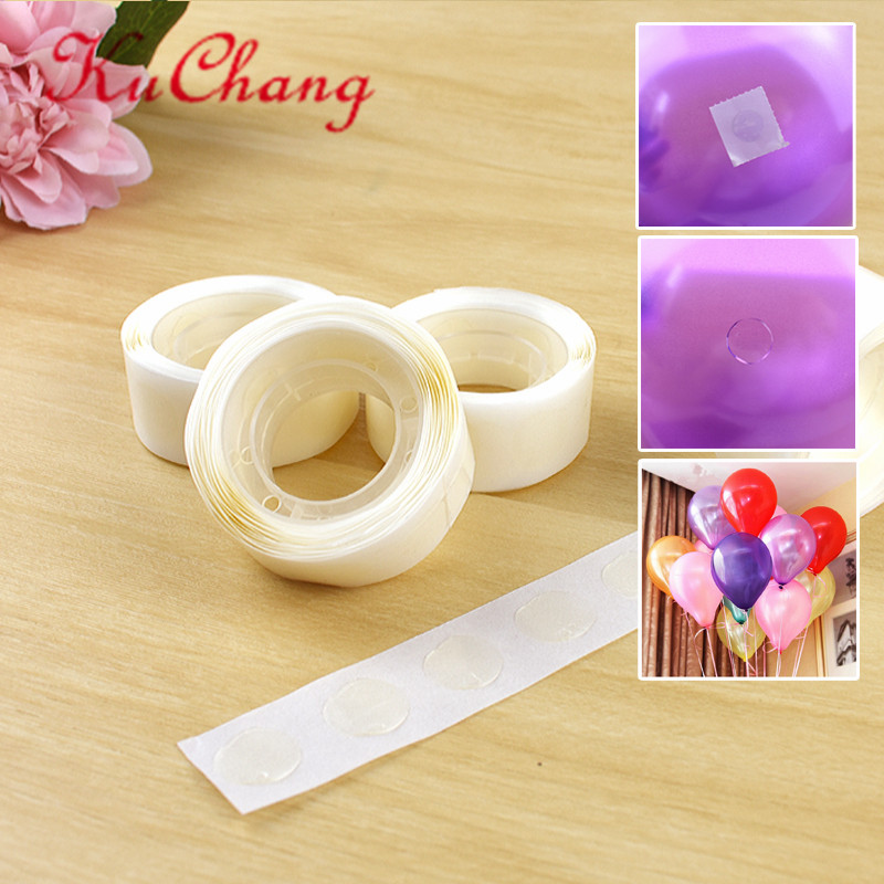 200/<font><b>100PCS</b></font> /LOT Removable Balloon Glue Wedding Birthday Decoration Attachment Glue Dot <font><b>Foil</b></font> Balloons Party Supplies globos Party image