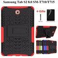 Сверхпрочный ТПУ + PC гибридный защитный чехол для Samsung Galaxy Tab S2 8 0 дюймов Чехол-подставка для Tab S2 8 0 SM-T710 T715 T713 Чехол + пленка + ручка