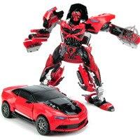 Red Bee Transform Brinquedos Transformação Robô para Carro de Metal Meninos Desenvolver DIY Presente Das Crianças Xmas